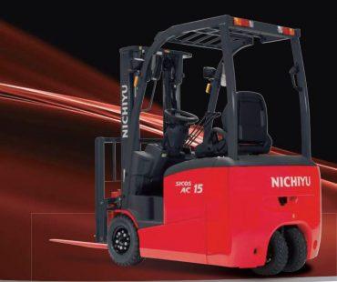 Nichiyu Electric 3 Wheel Counterbalance Forklift – 900kg to 2,000kg Capacity